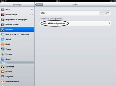 ipad 2 vpn setup