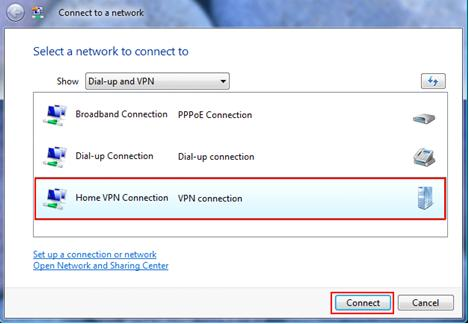 VPN for Windows Vista