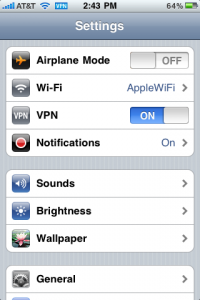 VPN Connection on IOS